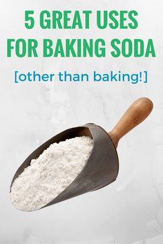 5 Great Uses for Baking Soda other than baking - Such a versatile item to keep stocked in your home!
