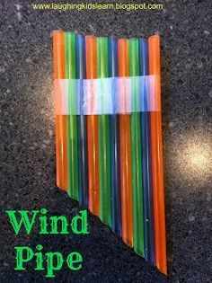 great project for your teaching elementary music class someday!!! Straw Wind Pipe Instrument