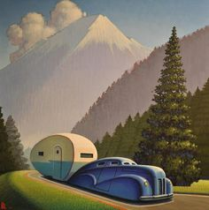 "thewoodbetween:    ""Mountain Road"" by Robert LaDuke."
