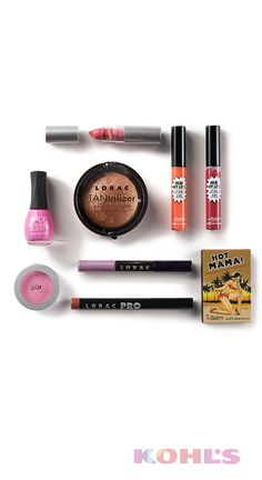Our picks for a bold-and-bright spring look, featuring makeup from Pür Minerals, Orly, LORAC cosmetics and theBalm.