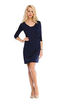 My Tummy Womens Maternity Nursing Dress Isabel Polka Dot 34 Sleeve XL  XLarge -- You. Těhotenské ... de7e460da5