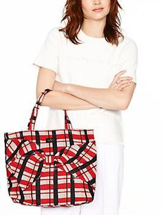 on purpose plaid tote by kate spade new york Kate Spade Handbags, Kate Spade Purse, Closet Accessories, Beautiful Handbags, Gold Print, Cow Leather, Bucket Bag, Most Beautiful, Plaid