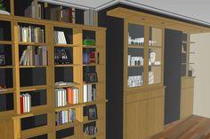 mueble libreria  para salon
