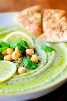 Fresh Basil Hummus