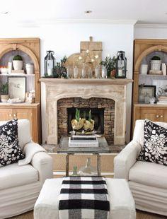 design indulgence: CHRISTMAS 2013 - slipcover chair and ottoman?
