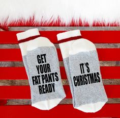 A personal favorite from my Etsy shop https://www.etsy.com/ca/listing/463341604/15-winebeer-socks-bring-me-wine-socks