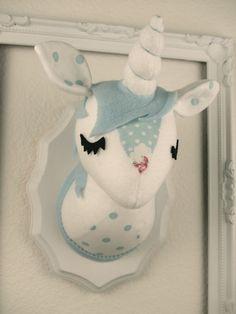 Unicorn Stuffed Taxidermy by MisfitMenagerie on Etsy, $25.00