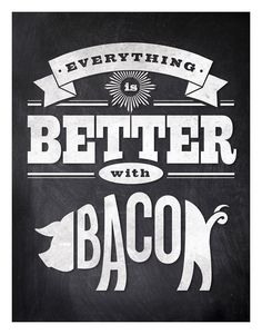 11x14 print with funny quote on blackboard background, pig illustration, retro typography. $28.00, via Etsy.