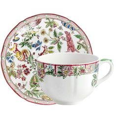 Jardin Imaginaire Cup and Saucer   Gien
