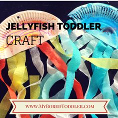 This month we are focusing on an 'Under Water' or 'Ocean' theme for our toddler activities. We started the month by reading some of our favorite Under Water books and for our craft activity today we made jellyfish using paper plates and crepe paper. We are going to use them as decorations for my daughters Octonauts themed birthday party at the end of the month, but they look great stuck on a wall or hanging up in a bedroom. If you work in a day care or early childhood setting, they look…