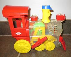 Vintage Toy Train Locomotive, by Ideal! Railroad Wind Up Classic Retro Toy by FriendsRetro on Etsy