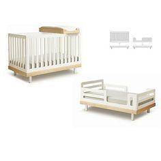 Convertible crib.