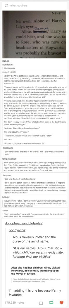 Albus Severus Potter and the Curse of the Stupid Name.