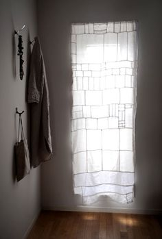 (linen curtain from fabric scraps.) BEAUTIFUL