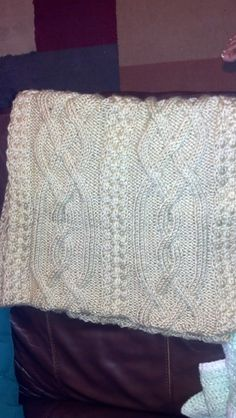 My first cable knit prayer shawl!! Finished December 2012