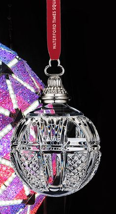 Waterford Times Square 2015 Ball Ornament Z Beautiful Christmas Decorations, Homemade Christmas Decorations, Christmas Ornaments To Make, Ball Ornaments, Christmas Balls, Christmas Tree Decorations, White Christmas, Christmas Holidays, Waterford Ornaments