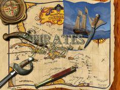 Pirate map wallpaper