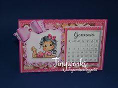 """TinyWorks: Tutorial Calendario da Tavolo Pink """"calendar desk""""..."""
