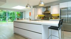 Dreaming of white kitchens, #kitchendesign #createthehomeyoulove, West London Kitchens thedecorcafe.com