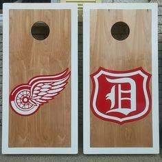 Red wings cornhole boards