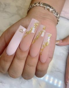 Acrylic Nails Coffin Pink, Long Square Acrylic Nails, Coffin Nails, Classy Acrylic Nails, Milky Nails, Nagel Bling, Romantic Nails, Fire Nails, Nagel Gel