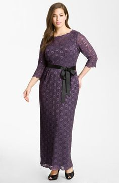 Alex Evenings Lace Overlay Gown (Plus)