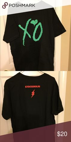 XO tshirt from The Weeknd's Stockholm show Soft T from The Weeknd's XO line sold at his Stockholm Sweden show Shirts Tees - Short Sleeve