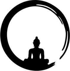 Black-Zen-Enso-Circle-With-Buddha-Tattoo-Stencil.jpg (985×1000)
