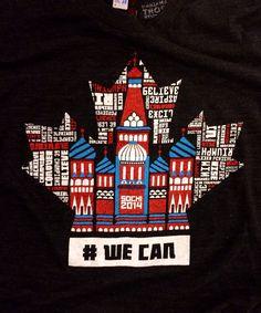 Sochi 2014 t-shirt in support of Canadian Olympic athletes! #WECAN #Canada #Sochi2014 www.csipacific.ca