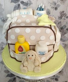 baby bag - Cake by Waterlooville Cake Co
