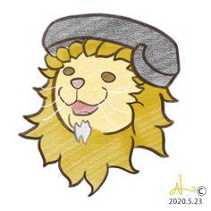 親猫おがた(ライオン)は、耳の関係上こうして電話をします。