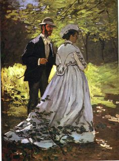 The Promenaders or Bazille and Camille by Claude Monet in oil on canvas, done in Now in the National Gallery of Art. Find a fine art print of this Claude Monet painting. Pierre Auguste Renoir, National Gallery Of Art, Art Gallery, National Art, Post Impressionism, Impressionist Paintings, Manet, Monet Poster, Monet Paintings