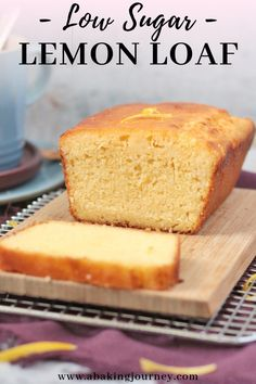 This Lemon Drizzle Cake is such an easy and deliciously tangy lemon cake to make at home. Enjoy it for breakfast, morning and afternoon tea or dessert! Lemon Desserts, Lemon Recipes, Easy Cake Recipes, Healthy Dessert Recipes, Sweet Recipes, Snack Recipes, Bread Recipes, Healthy Lemon Cake Recipe, Muffin Recipes
