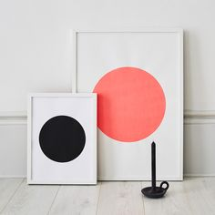Large Neon Circle Paper Screen Print: A strikingly simple circle screen print onto paper  Hand printed in Germany by Sandra Thomsen