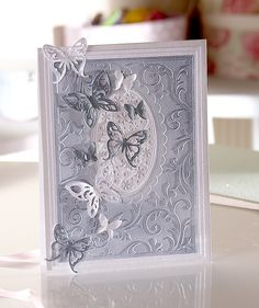 Learn to create a beautifully elegant butterfly card using the new Butterfly Lullaby collection from Crafter's Companion, the perfect project for beginner papercrafters.