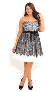 City Chic - LACE BRADSHAW DRESS - Women's plus size fashion