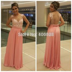 Find More Prom Dresses Information about Hot Sale Vestido De Festa Floor Length Cap Sleeve Appliques Sexy V Neck Nude Back Chiffon A Line Custom Made Prom Dresses 2015,High Quality cap sleeve prom dress,China dress zara Suppliers, Cheap cap 3d from Forever Lover Bridal on Aliexpress.com