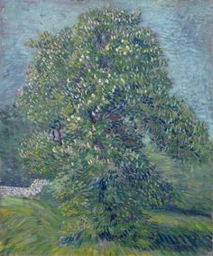 Chestnut Tree in Blossom, 1887.  Vincent van Gogh