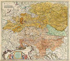 Vieille carte de l Europe Centrale
