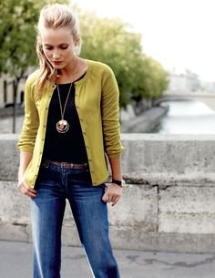 Yellow Boden sweater.