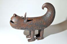 My Gallery - Artwork & Ceramics by Chiu-I Wu Ceramic Monsters, Ceramic Animals, Clay Animals, Virtual Museum, Art Carved, Arte Popular, Mythical Creatures, Cool Artwork, Sculpting