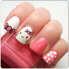 hello kitty by   shay8815 #nail #nails #nailart