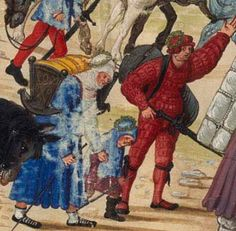 1501 Hans Burckmaier - Triumph of Emperor Maximilian I, King of Hungary, Dalmatia and Croatia, Archduke of Austria. Second file link PAGE 50 detail - cradle Renaissance, Maximilian I, 16th Century Clothing, High Middle Ages, Landsknecht, German Women, Medieval Fashion, Viking Age, Dark Ages
