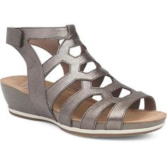 A STRAPPY GLADIATOR STYLE FLAT SANDAL DISGUISED AS A FASHION WEDGE. VALENTINA FEATURES AN ANKLE WRAP, TWO-TONE OUTSOLE, AND AN ADJUSTABLE HOOK & LOOP CLOSURELEATHER UPPERS AND LEATHER LININGSSUEDE SOCKLINING FOR SOFTNESS UNDERFOOTCONTOURED CORK MIDSOLE WEDGE WITH FOAM FOOTBED FOR SUPPORT AND CUSHIONINGSKU: 1523-971