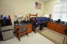 Two-student room in LSU Cypress Hall.