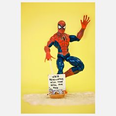 Spidey-Web 8x10  - Even Spiderman has to look around for work during the recession. Good thing he's a web developer—a marketable skill in these tough times. This whimsical print, part of Marcos Minuchin's The Secret Life of Toys collection, imagines what goes on outside the toy box.