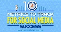 10 Metrics to Track for Social Media Success rite.ly/jTFM
