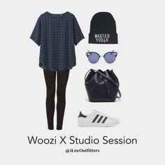 "jleeoutfitters: "" jleeoutfitters: ""Casual Studio Session with Woozi "" Anonymous said to jleeoutfitters: ""writing/producing w jihoon in his studio? "" Anonymous said to jleeoutfitters: ""can i request working in the studio with. Kpop Fashion Outfits, Chic Outfits, Trendy Outfits, Girl Outfits, Tv Show Outfits, Fandom Outfits, K Pop, Estilo Swag, Concert Outfit Winter"