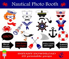 Sailor Party, Nautical Photo Booth