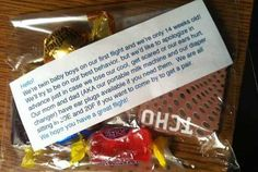 Very considerate parents - and the twin boys are very lucky to have parents with a bit of humor.